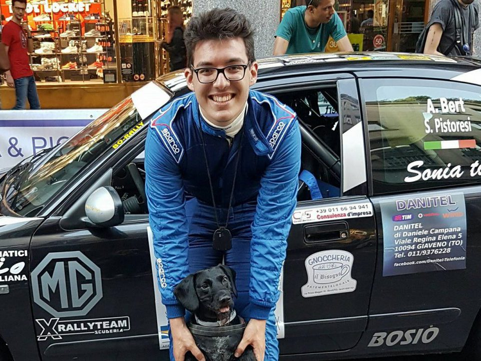 Stefano Pistoresi durante il Rally Città di Torino